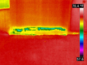 This is what a Thermal Imaging Inspection revealed.